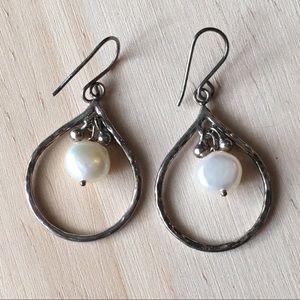 Vintage sterling pearl earrings